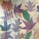 Art work based on leaves